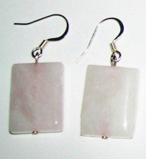 Rose Quarts big earrings