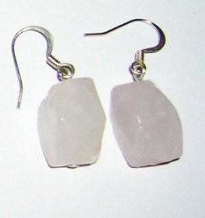 Rose Quarts medium earrings