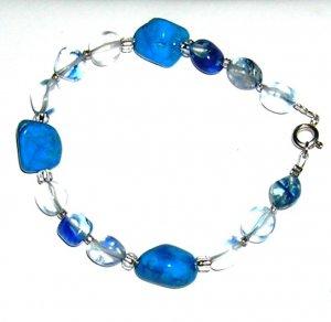 Blue Quartz with Turquoise Howalite bracelet