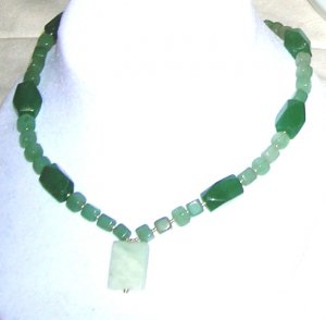 Green Aventurin and new jade necklace