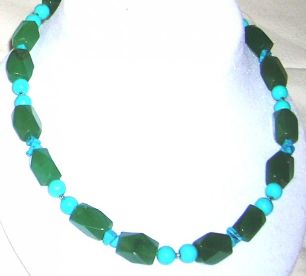 Turquoise with green aventurin necklace