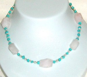 Turquoise with Rose quarts