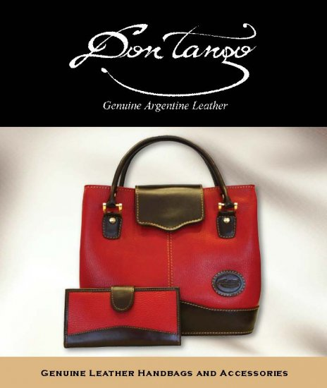 Argentina Red Leather Handbag - Last One!