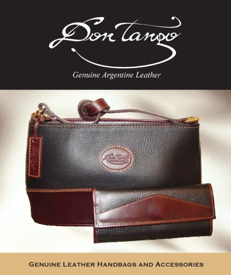 Argentina Leather Handbag Only - Black