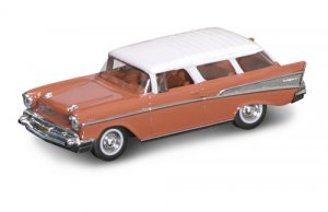 Road Legends 1957 Chevrolet Nomad by Yat Ming, 1:43 Scale - Buckskin Brown