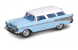 Road Legends 1957 Chevrolet Nomad by Yat Ming, 1:43 Scale - Blue