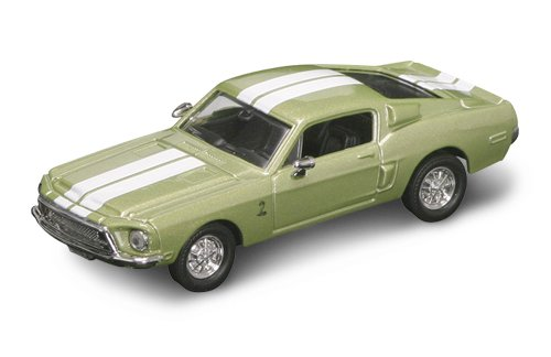 Road Legends 1968 Shelby Mustang GT 500 By Yat Ming, 1:43 Scale - Olive Green