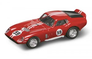 Road Legends 1965 Shelby Daytona Coupe By Yat Ming, 1:43 Scale - Blue