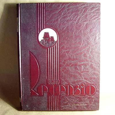 Miami University Oxford Ohio 1936 Recensio Vintage 1930�s Yearbook