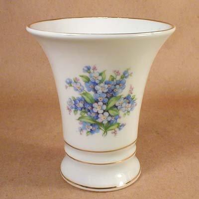 Schumann Germany Porcelain Vintage Forget Me Not Vase