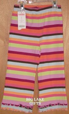 Gymboree Snow Blossom Multi Stripe Pants Size 2T NEW