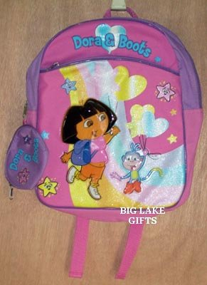 Dora The Explorer & Boots Backpack w/ Coin Purse NEW