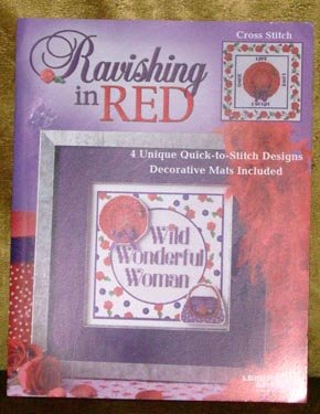 Ravishing in Red Cross Stitch Pattern Book RED HAT