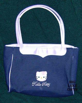 Hello Kitty Girl's Purse Denim Blue & Lavender