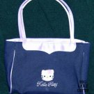 Hello Kitty Girl's Purse Denim Blue & Lavender