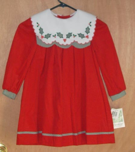 Bonnie Jean Red Holiday Christmas Dress Size 5 NEW