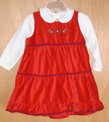 Wonder Kids 3pc Holiday Dress w/ Bloomers 18 Months NEW