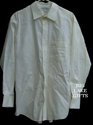 Burberrys Off-White Button Front Dress Shirt 16 1/2 32