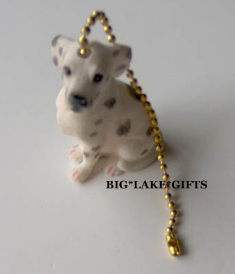 Dalmation Dog Ceramic Ceiling Fan Pull