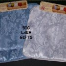 Designer Patterns Pillow Cover White & Sky Blue SET NEW