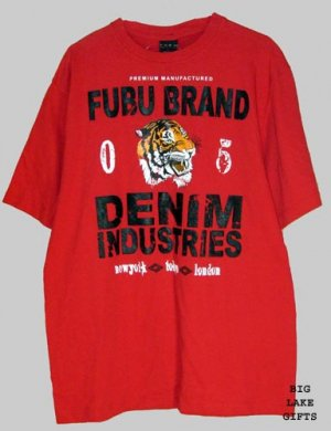 Fubu Premium Red Logo Shirt T-Shirt L Large NEW