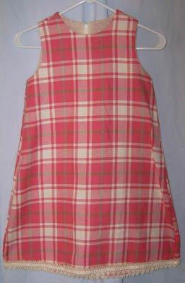 Trish Scully Pink Plaid Dress Girls Size 6 6X NEW