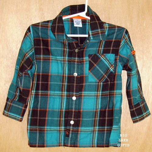 Gymboree THIN AIR Plaid Snap Front Shirt Boys Size 2T