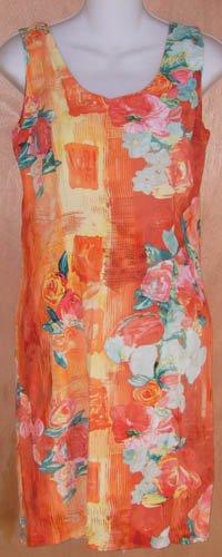 Jams World Vibrant Orange Floral Dress Size 7