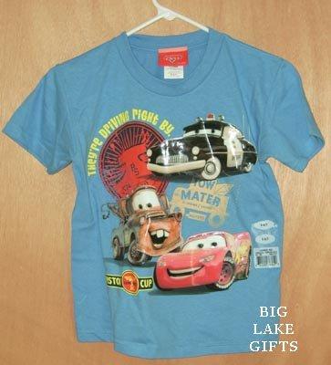 Disney CARS Shirt Lightening McQueen Mater NEW 6/7