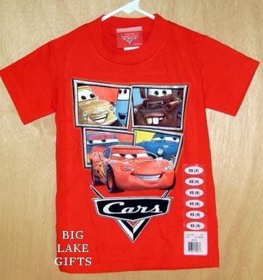 Disney CARS Shirt Lightening Mcqueen Mater Size 5/6 NEW