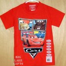 Disney CARS Shirt Lightening Mcqueen Mater Size 5/6 NEW