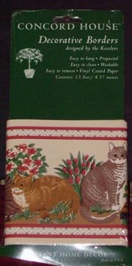 """Country Cats """"Sitting Pretty"""" Wallpaper Border NEW"""
