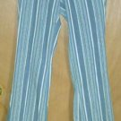 Diesel Blue Striped Pants Jeans Size 28 NEW