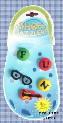 Shoe Dazzler Crocs Clogs 5 Piece Shoe Charms Guitar FUN