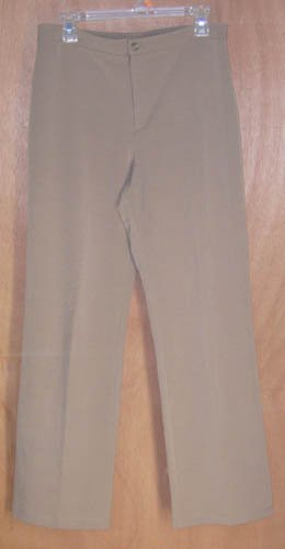 Chico's Design Dark Khaki Pants Size 1 Stretch 8