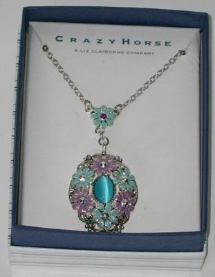 Crazy Horse by Liz Claiborne Turquoise Necklace NEW