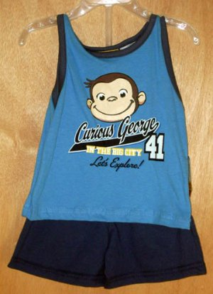 Curious George 2pc Shorts & Shirt Outfit Size 12 Months New