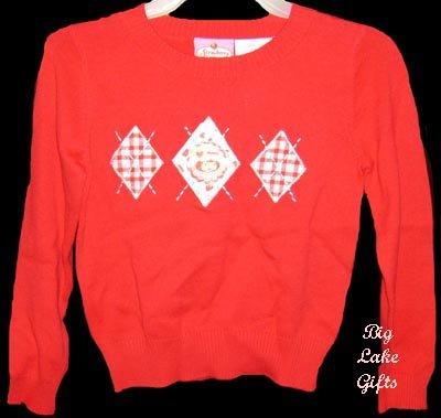 Strawberry Shortcake Red Winter Sweater Size 4/5 NEW