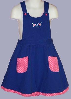 Gymboree Classic Bold Blue Jumper Dress Size XL 4 5 6