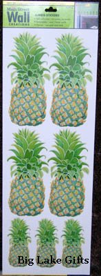 Pineapple Jumbo Wall Stickers Border Wallies - NEW