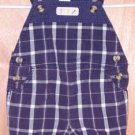 Gymboree Lawn Party Plaid Shortalls 6 - 12 Months Boys
