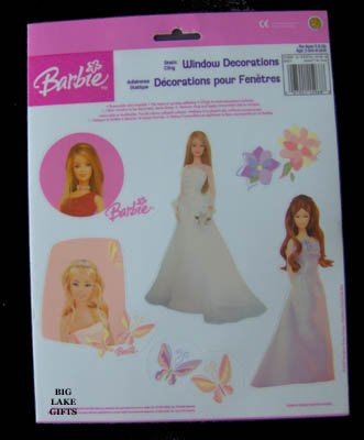 Barbie Window Decorations Clings Room Decor NEW