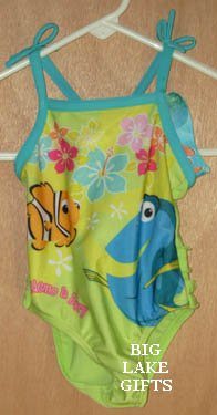 Finding Nemo Girls Bathing Swim Suit 18 Months NEW