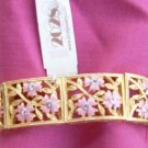 2028 by 1928 Pink Ornate Rhinestone Bracelet - NEW