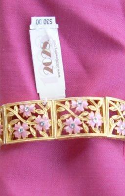 2028 by 1928 Pink Ornate Rhinestone Bracelet - NEW