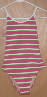 Ralph Lauren Multi Stripe Swim Bathing Suit Size 16 NEW