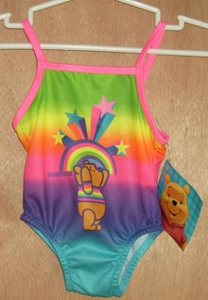 Winnie The Pooh Rainbow Swim Bathing Suit 12 Months NEW