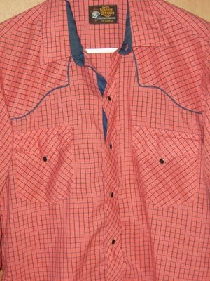 Vintage Kenny Rogers Western Shirt Pearl Snaps M 15 1/2