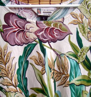 Tori Richard Tropical Dress Ladies Size Large L