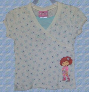 STRAWBERRY SHORTCAKE Shirt 7/8 Top NEW